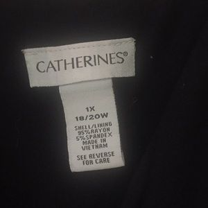 Catherines Dresses - 1X)18/20) Maxi Dress w/Colorblocking by Catherines